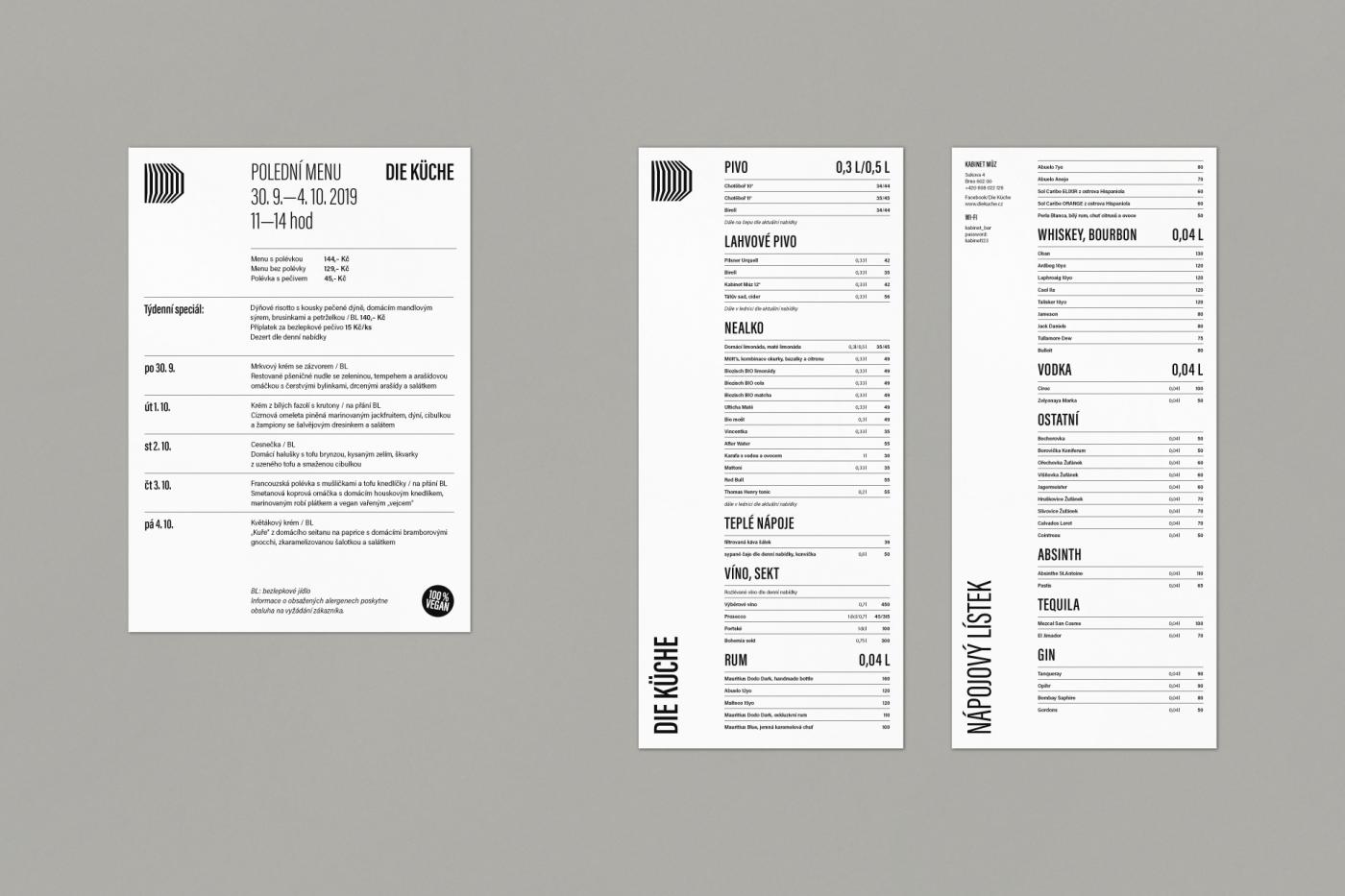 Kabinet múz – Die Küche – daily menu and beverages