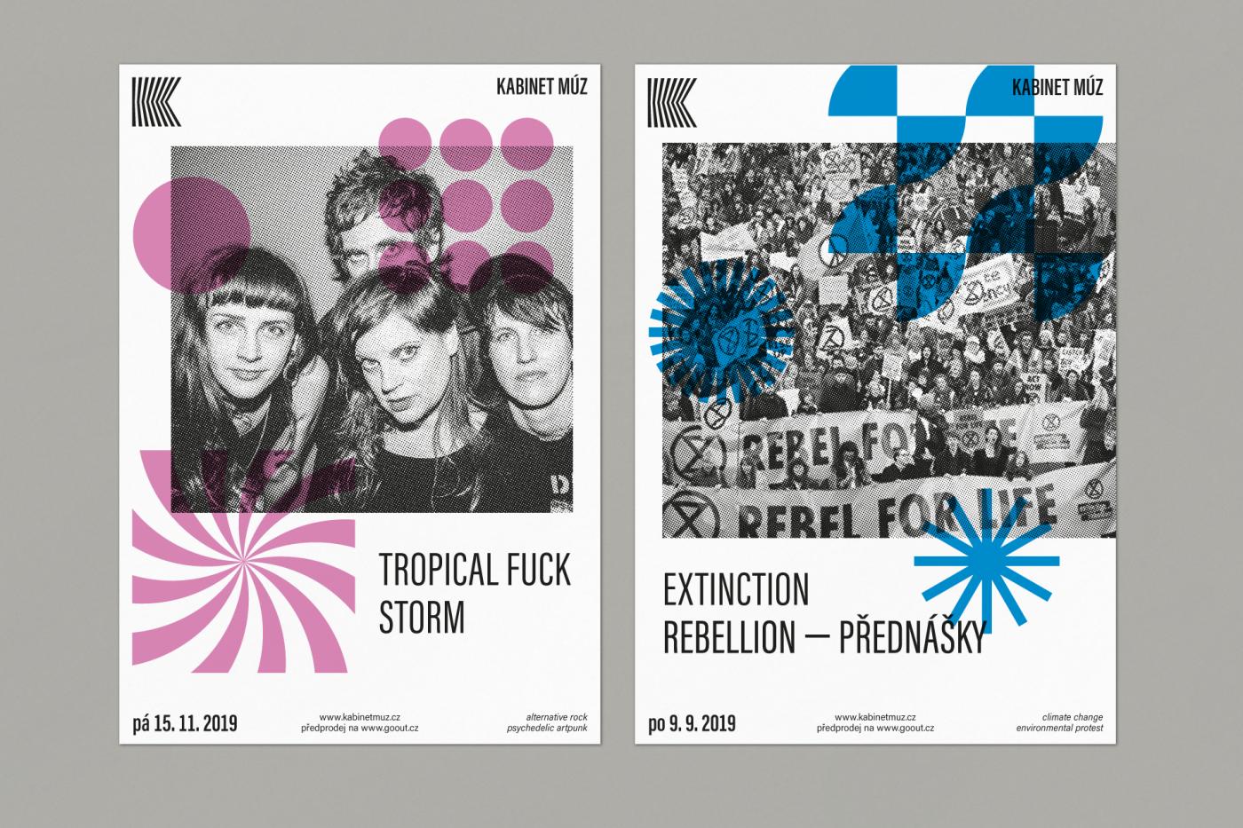 Kabinet Můz event posters